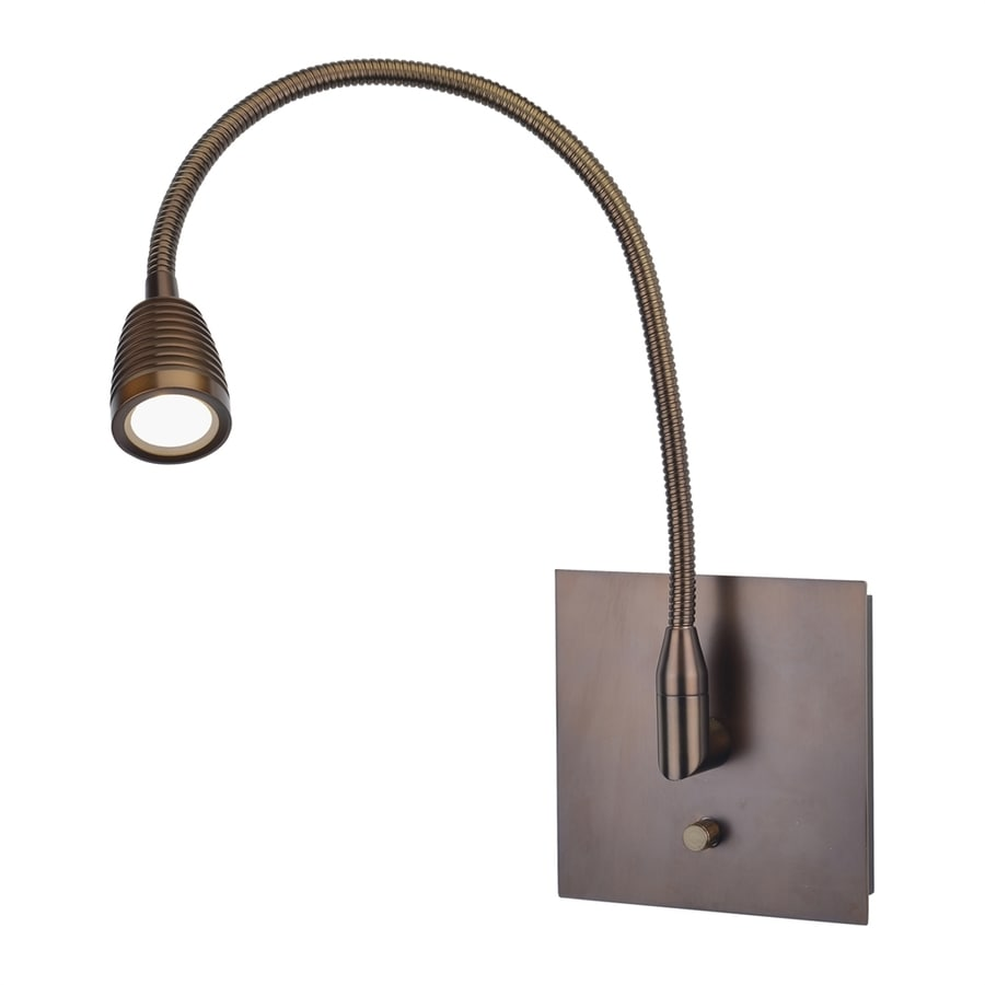 Access Lighting TaskWerx 7-in W 1-Light Bronze Arm/Plug-in LED Wall Sconce