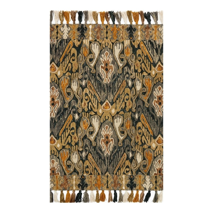 Loloi Farrah Charcoal/Khaki Rectangular Indoor Area Rug (Common: 2 x 4; Actual: 2.25-ft W x 3.75-ft L)