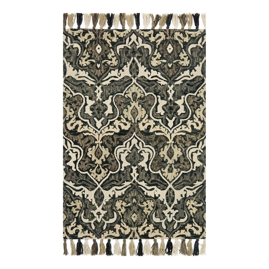 Loloi Farrah Charcoal/Grey Rectangular Indoor Area Rug (Common: 4 x 6; Actual: 3.5-ft W x 5.5-ft L)