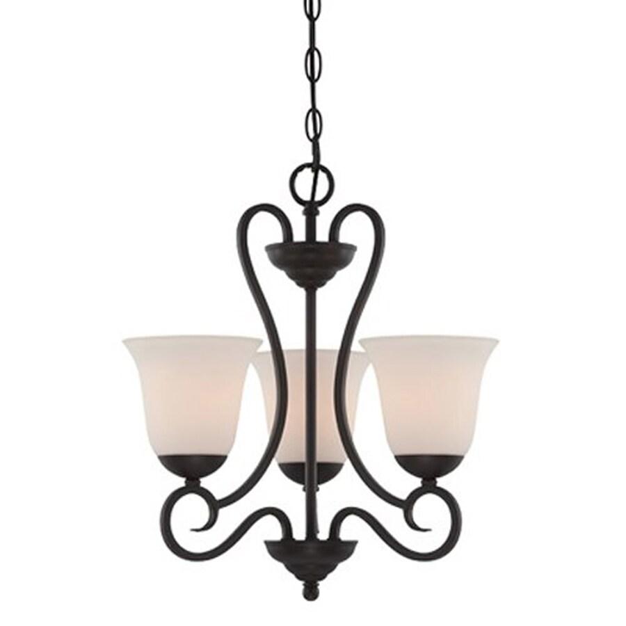 Cascadia Lighting Addison 17-in 3-Light Oil-Rubbed bronze Shaded Chandelier
