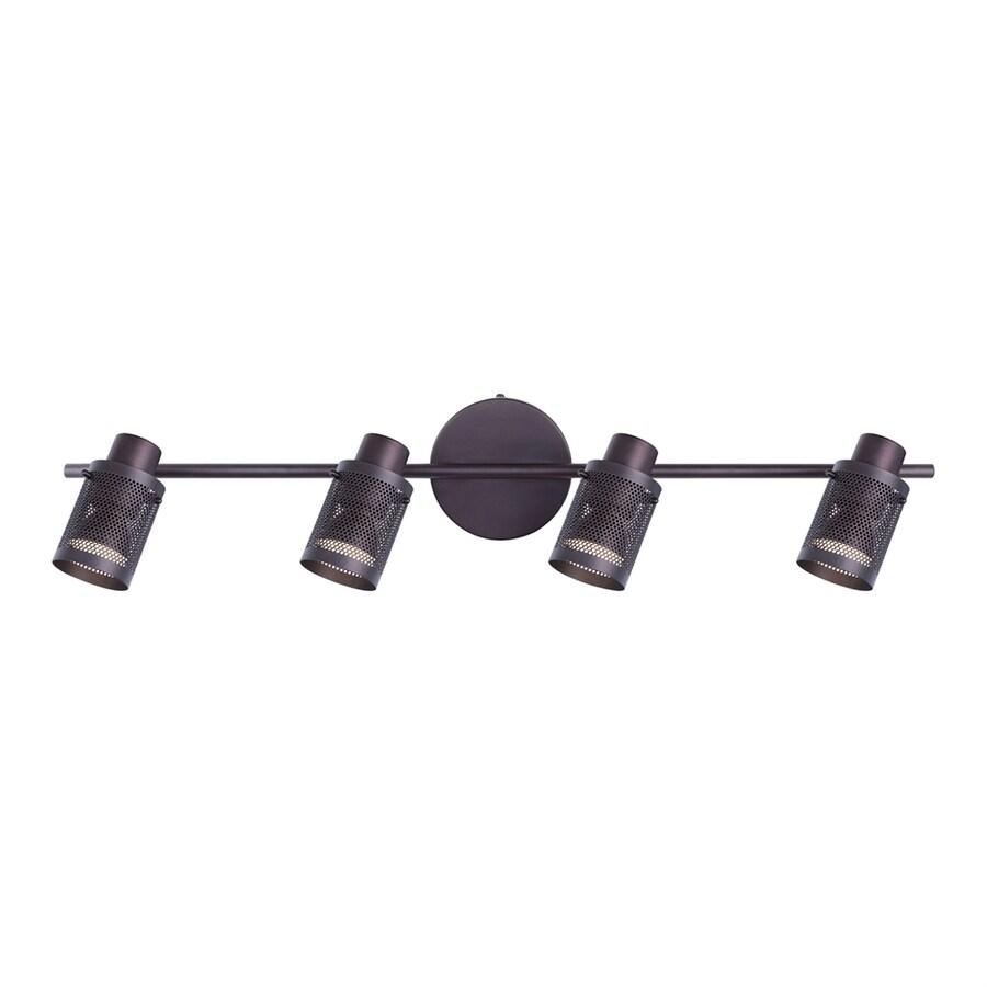 Canarm Acton 4-Light 6.75-in Oil Rubbed Bronze Cage LED Vanity Light