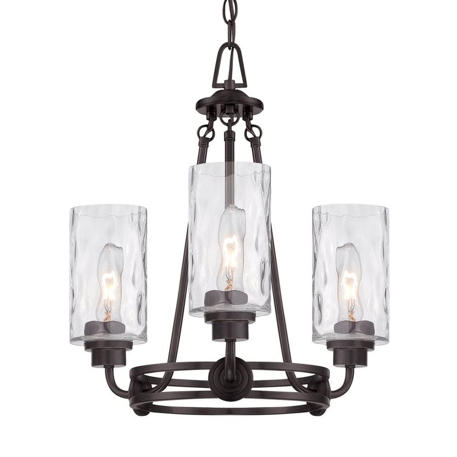 old industrial lighting. Cascadia Lighting Gramercy Park 18-in 3-Light Old English Bronze Industrial Textured Glass