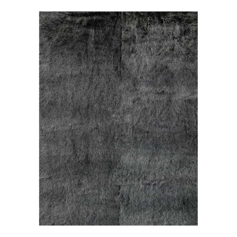 Loloi Finley Black/Charcoal Rectangular Indoor Machine-Made Animals Throw Rug (Common: 2 x 3; Actual: 2-ft W x 3-ft L)