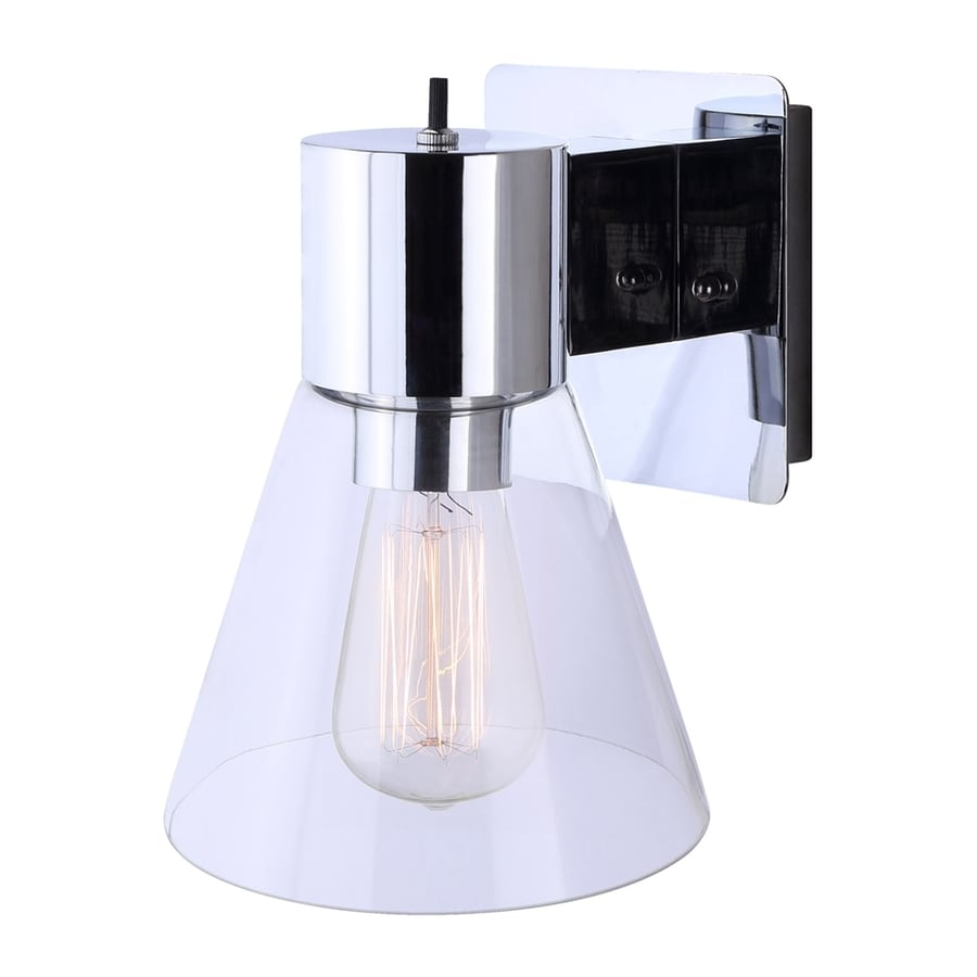 Canarm 6.5-in W 1-Light Chrome Arm Hardwired Standard Wall Sconce