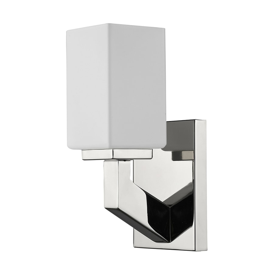 Acclaim Lighting Magnolia 4.75-in W 1-Light Polished Nickel Arm Hardwired Standard Wall Sconce