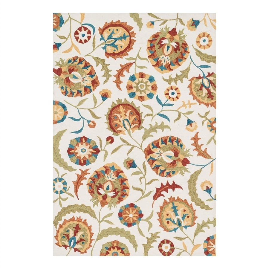 Loloi Francesca Ivory/Spice Rectangular Indoor Handcrafted Nature Area Rug (Common: 4 x 6; Actual: 3.5-ft W x 5.5-ft L)