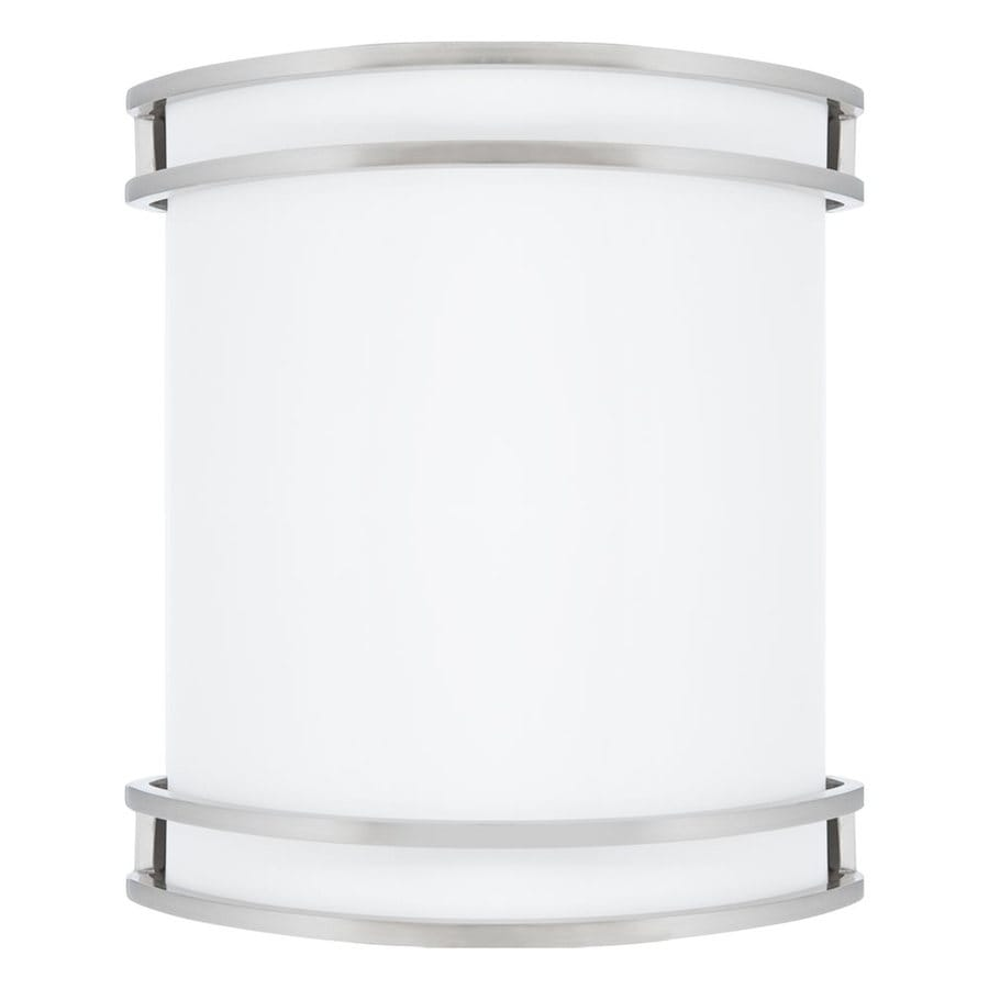 Amax Lighting 9.5-in W 1-Light Nickel Pocket Hardwired Integrated LED Wall Sconce