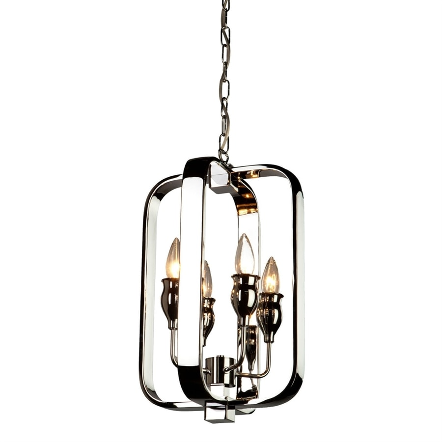 Artcraft Lighting Gagetown 11-in 4-Light Chrome Cage Chandelier