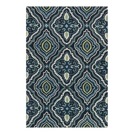 Loloi Francesca Navy Aqua Indoor Handcrafted Area Rug Common 5 X 8
