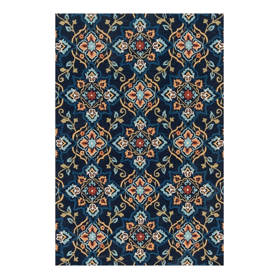 Loloi Francesca Navy Rectangular Indoor Handcrafted Area Rug (Common: 5 x 8; Actual: 5-ft W x 7.5-ft L)