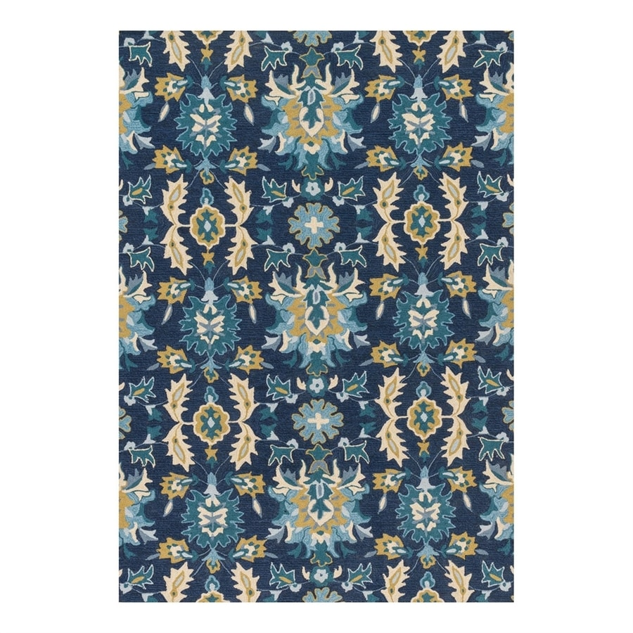 Loloi Francesca Blue/Ocean Rectangular Indoor Handcrafted Area Rug (Common: 2 x 4; Actual: 2.25-ft W x 3.75-ft L)