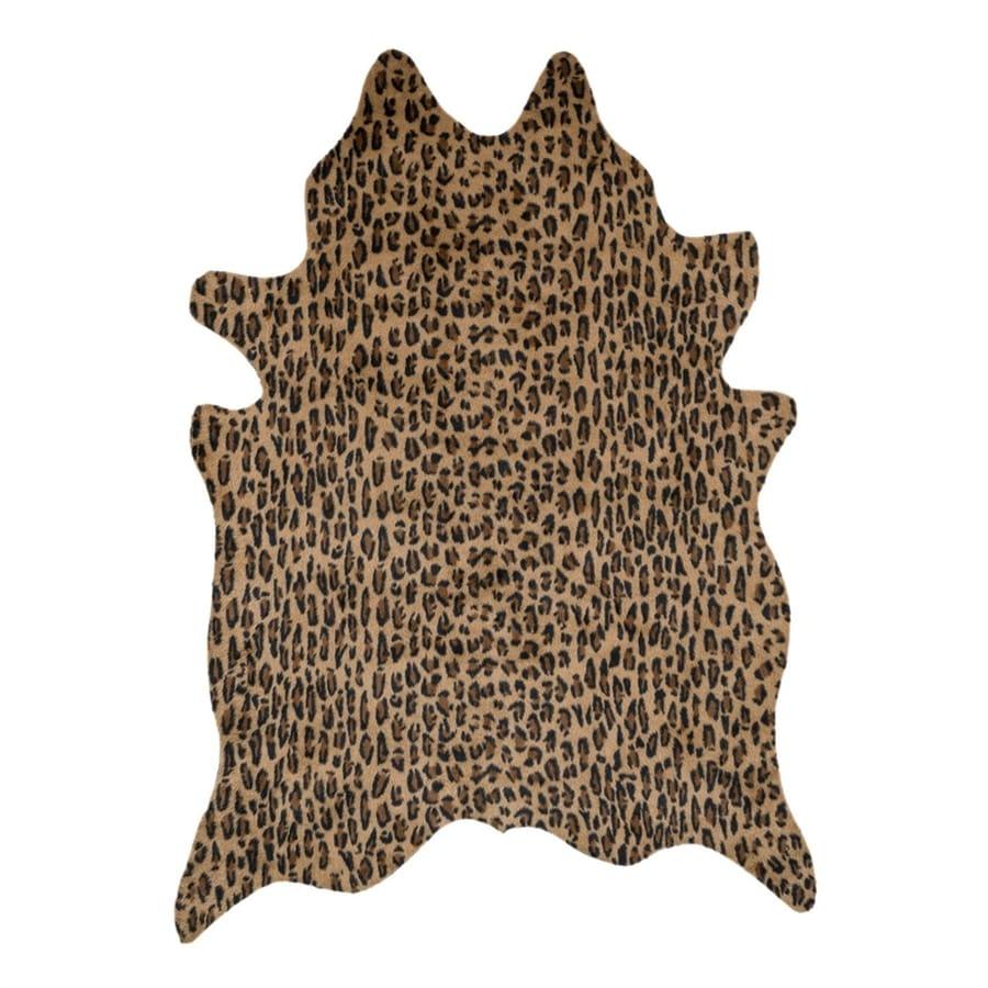 Loloi Francesca Camel/Black Irregular Indoor Machine-Made Animals Area Rug (Common: 6 x 8; Actual: 6.167-ft W x 8-ft L)