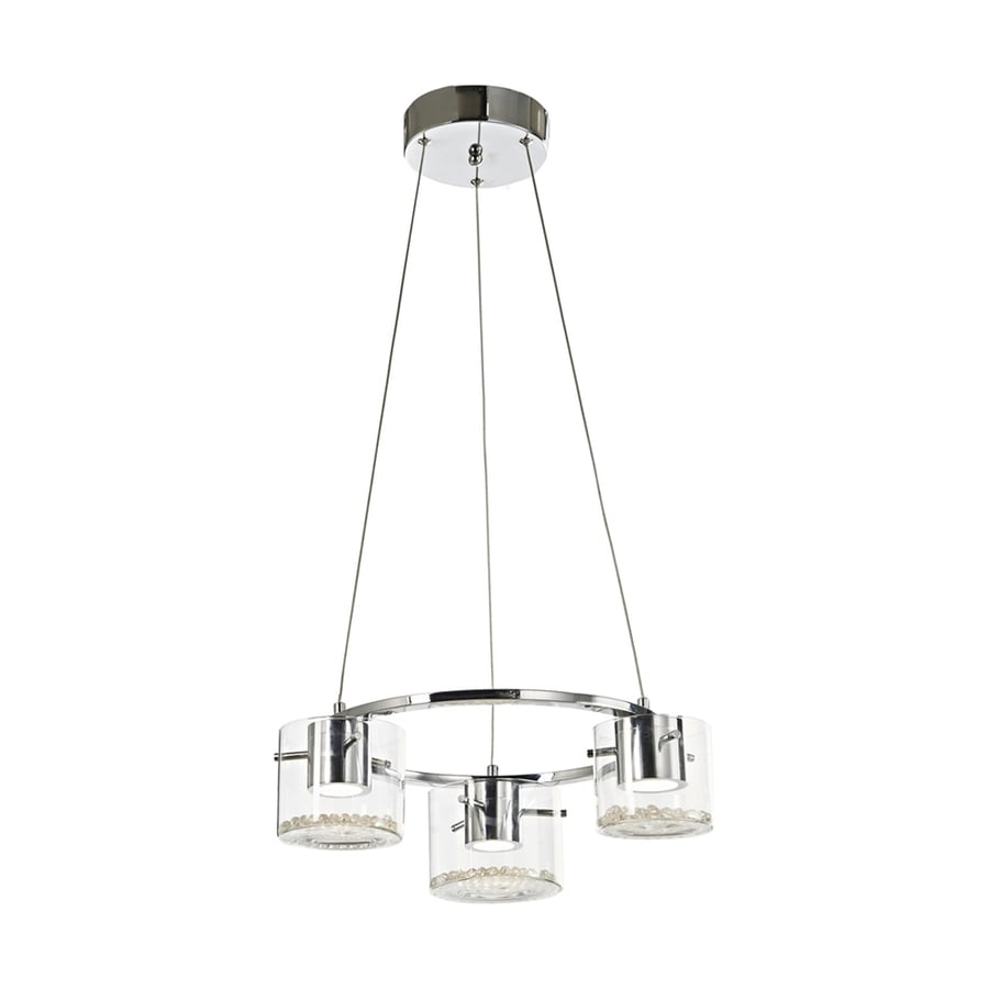 Elk Lighting Belmont: Artcraft Lighting Belmont 18-in 3-Light Chrome Clear Glass