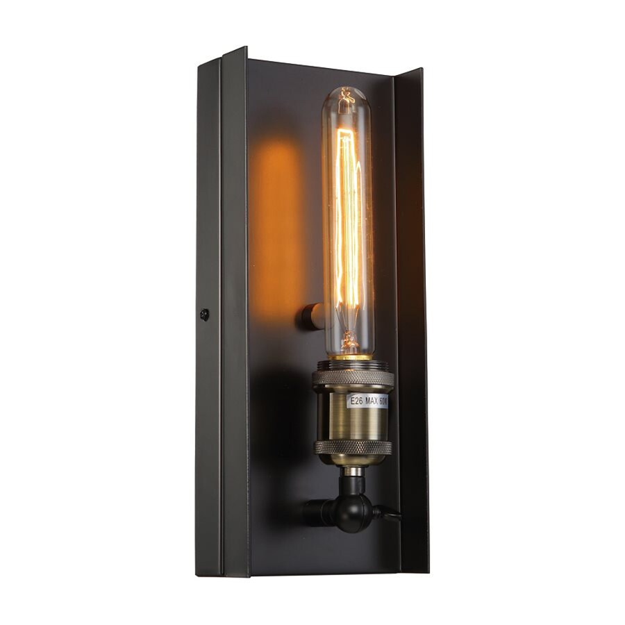 Shop Bethel International 5 In W 1 Light Black Candle Wall Sconce At