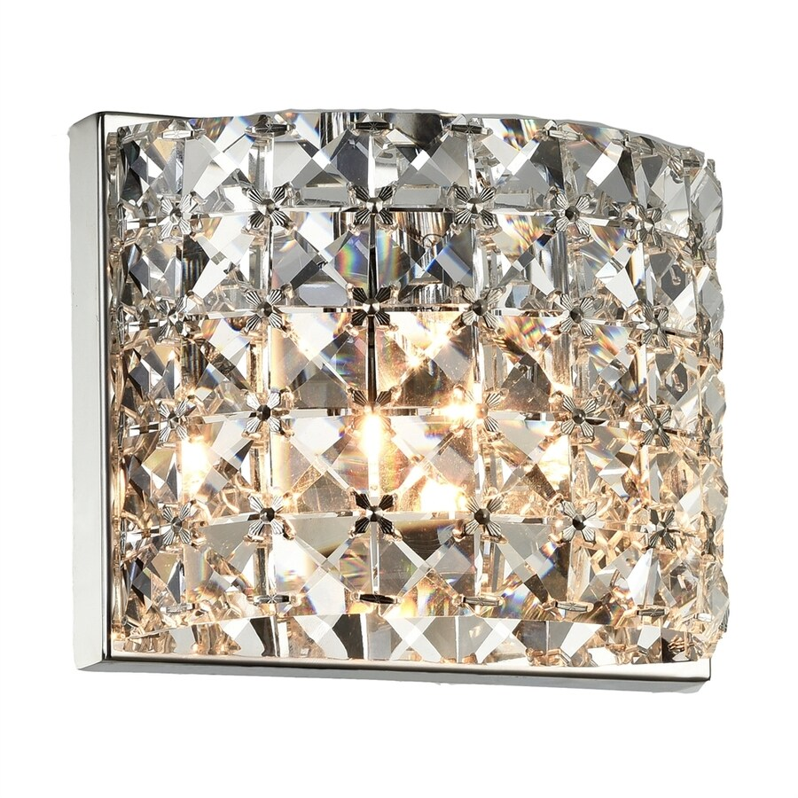 Bethel International 6.2-in W 1-Light Chrome Pocket Wall Sconce