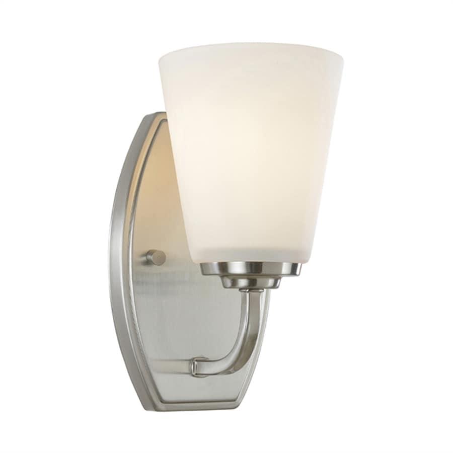 Artcraft Lighting Hudson 4.5-in W 1-Light Brushed Nickel Arm Hardwired Standard Wall Sconce