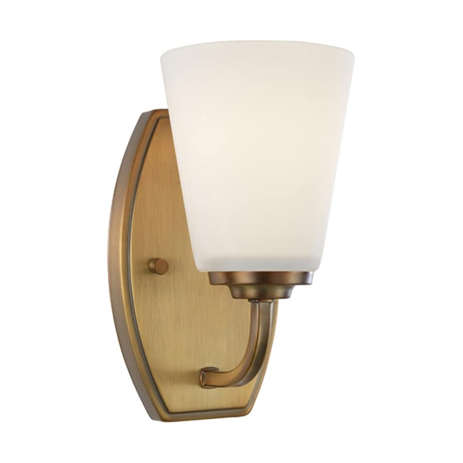 Artcraft Lighting Hudson 4.5-in W 1-Light Vintage brass Arm Wall Sconce