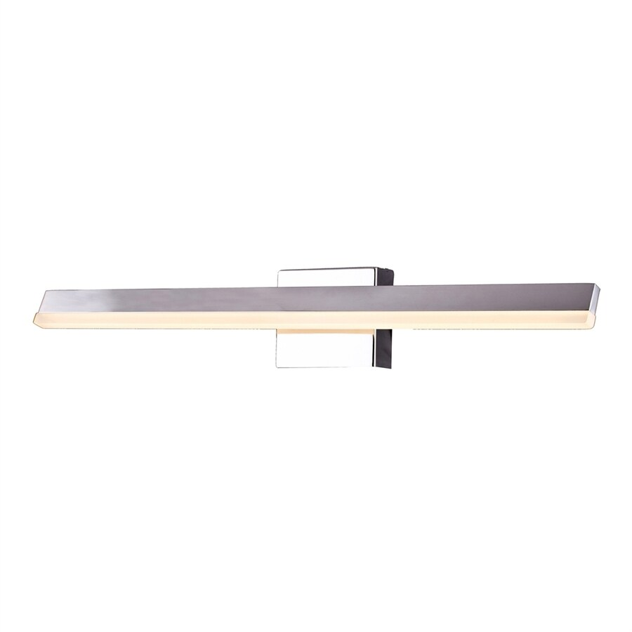 Bethel International MV Series 1-Light 4.7-in Shiny Nickel Rectangle LED Vanity Light