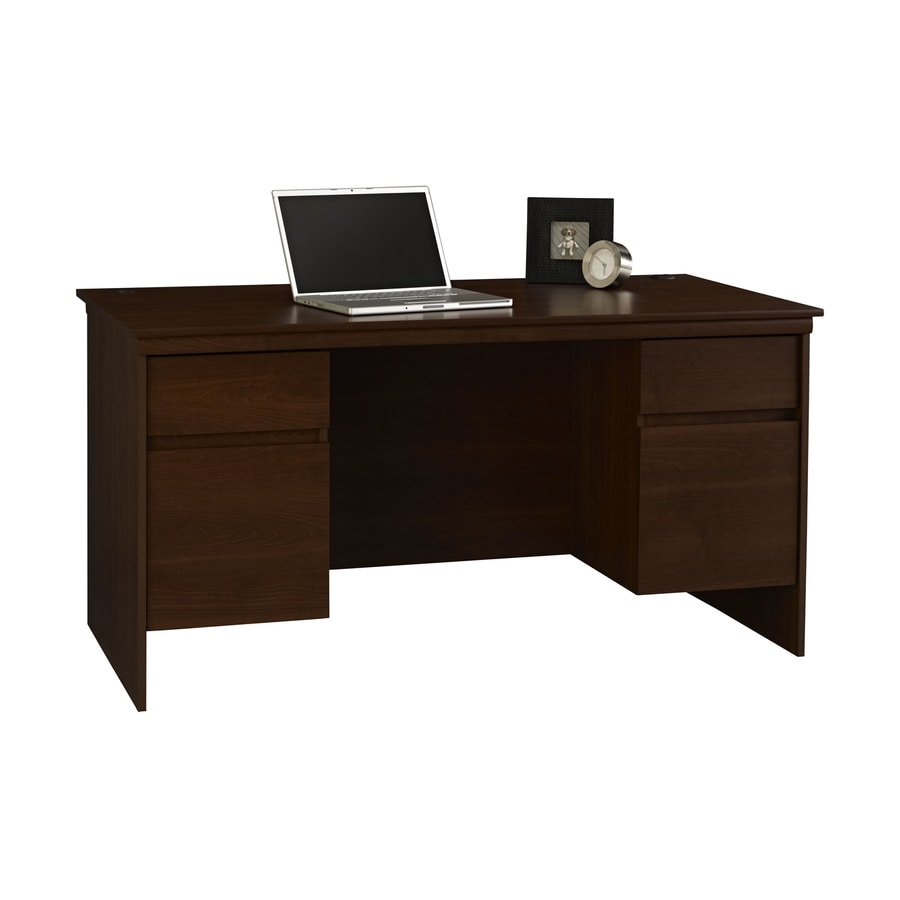 Ameriwood Home Transitional Resort Cherry Executive Desk