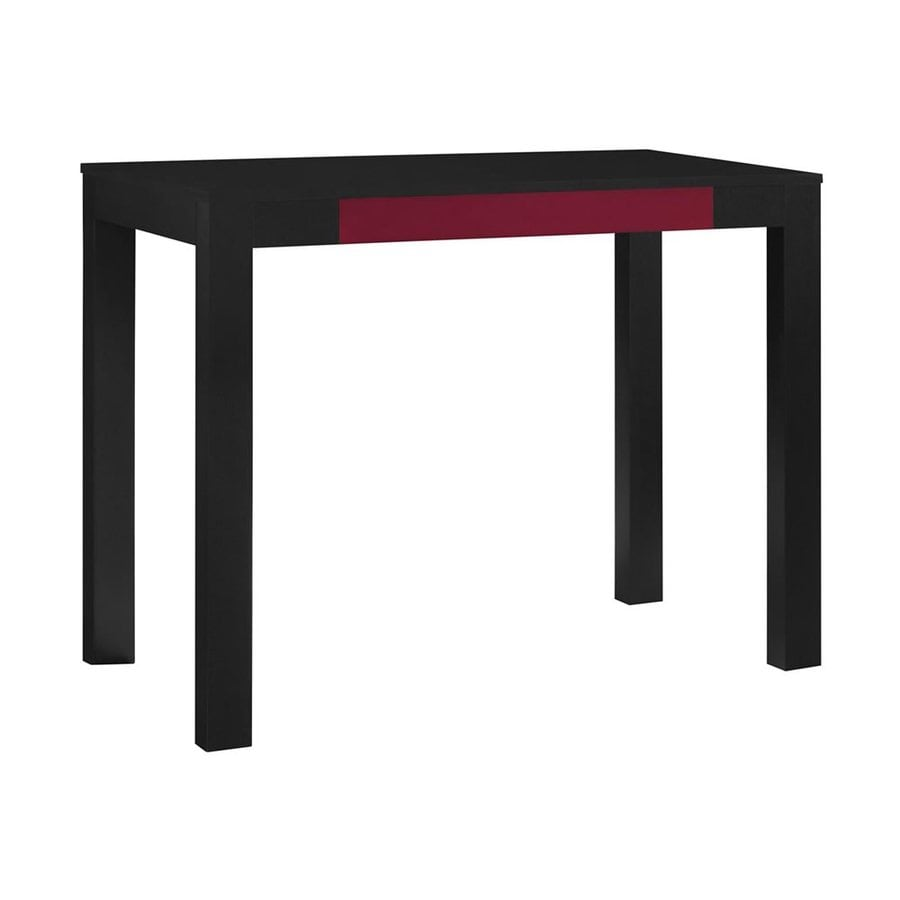 Ameriwood Home Parsons Contemporary Black/Red Writing Desk