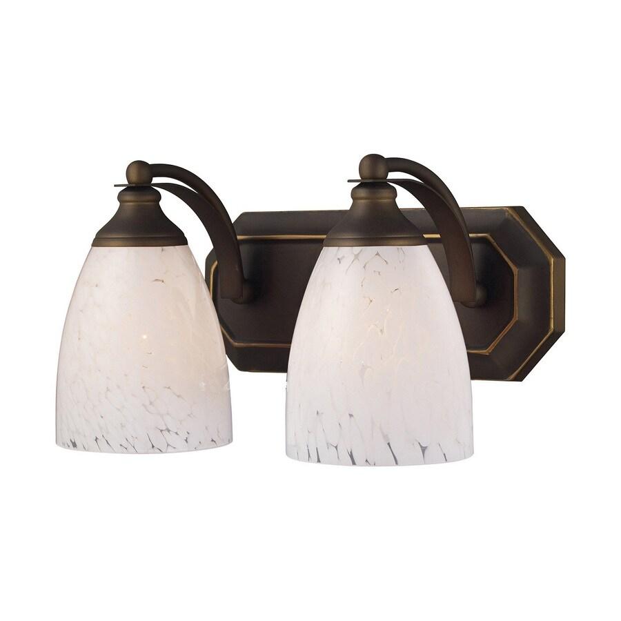 Westmore Lighting Homestead 2-Light 7-in Aged Bronze Bell LED Vanity Light