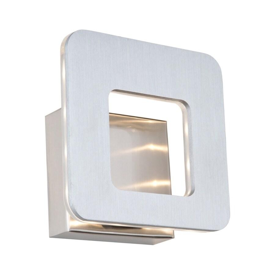 Artcraft Lighting Matrix 6.75-in W-Light Brushed aluminium/brushed nickel Pocket LED Wall Sconce
