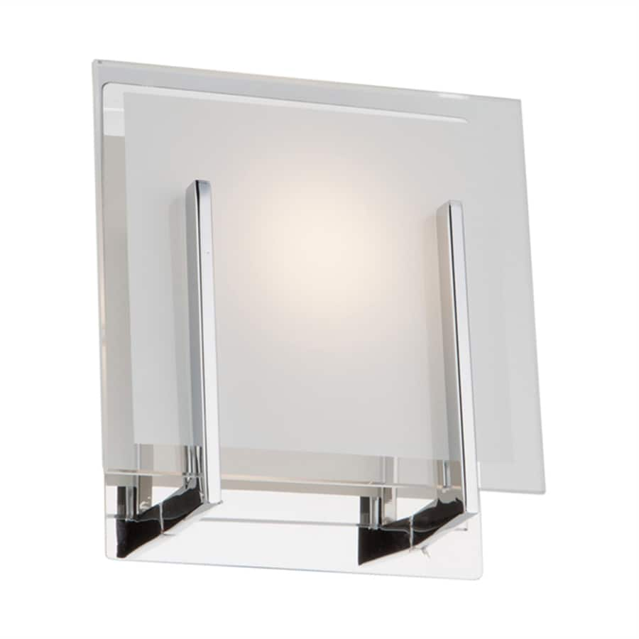 Artcraft Lighting Kingsley 4.75-in W Chrome Pocket Hardwired Integrated LED Wall Sconce