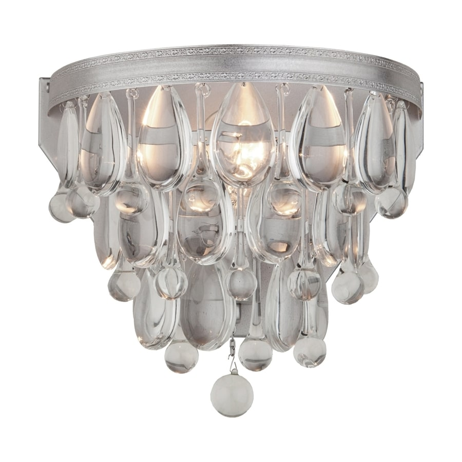 Artcraft Lighting Pebble 11.25-in W 2-Light Antique silver Wall Wash Wall Sconce