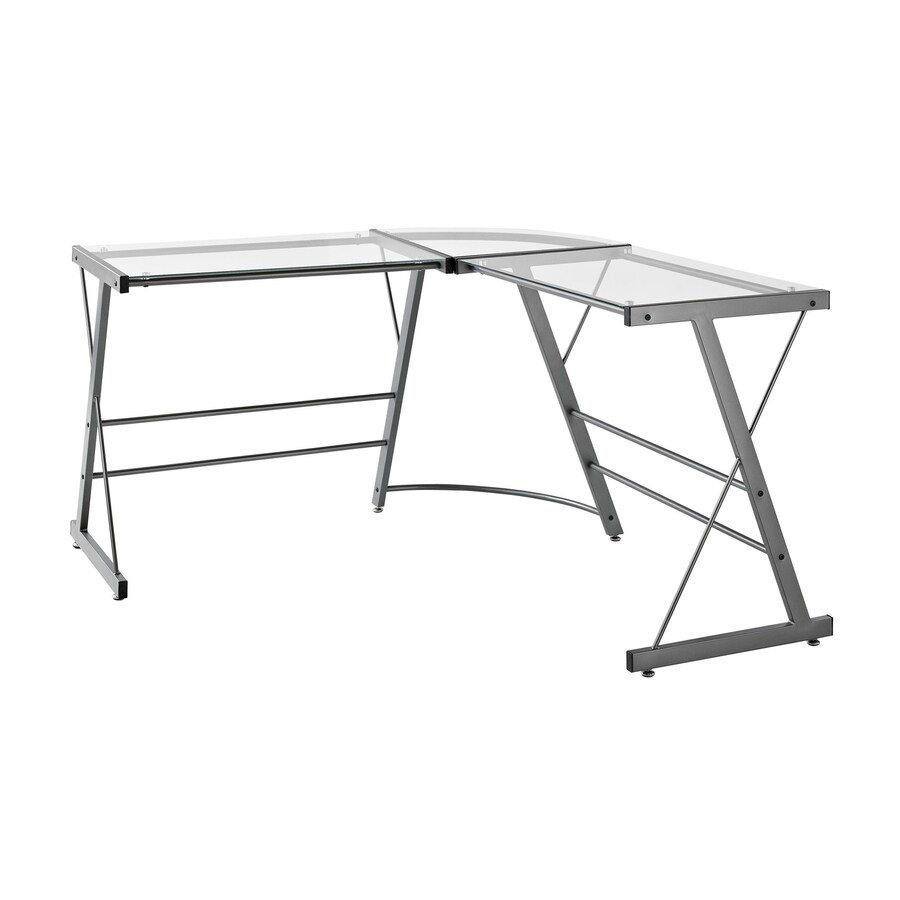 Ameriwood Home Contemporary Clear L-shaped Desk