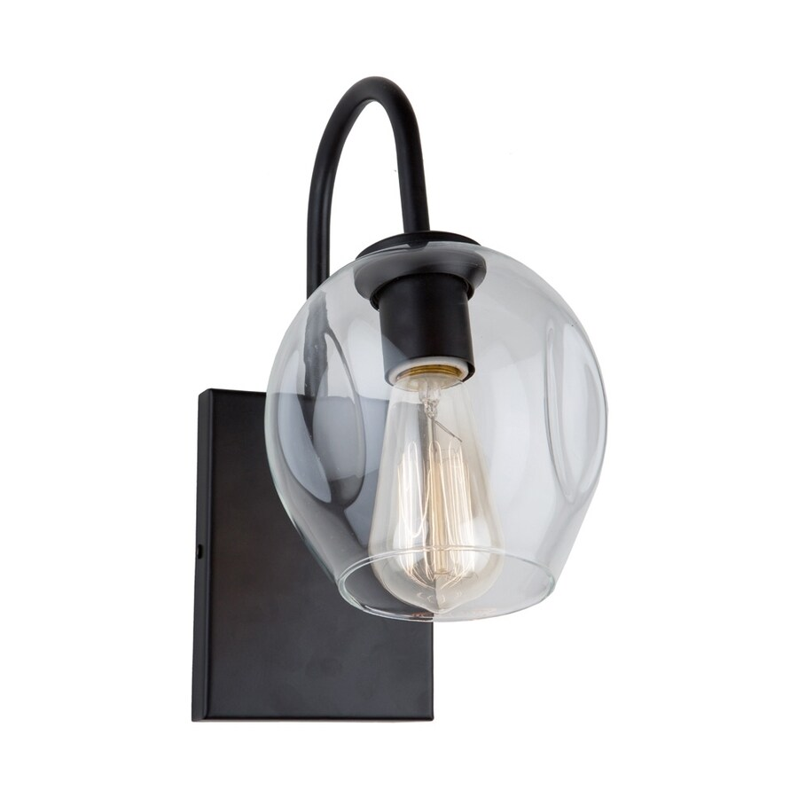 Artcraft Lighting Organic 6-in W 1-Light Black Arm Hardwired Standard Wall Sconce