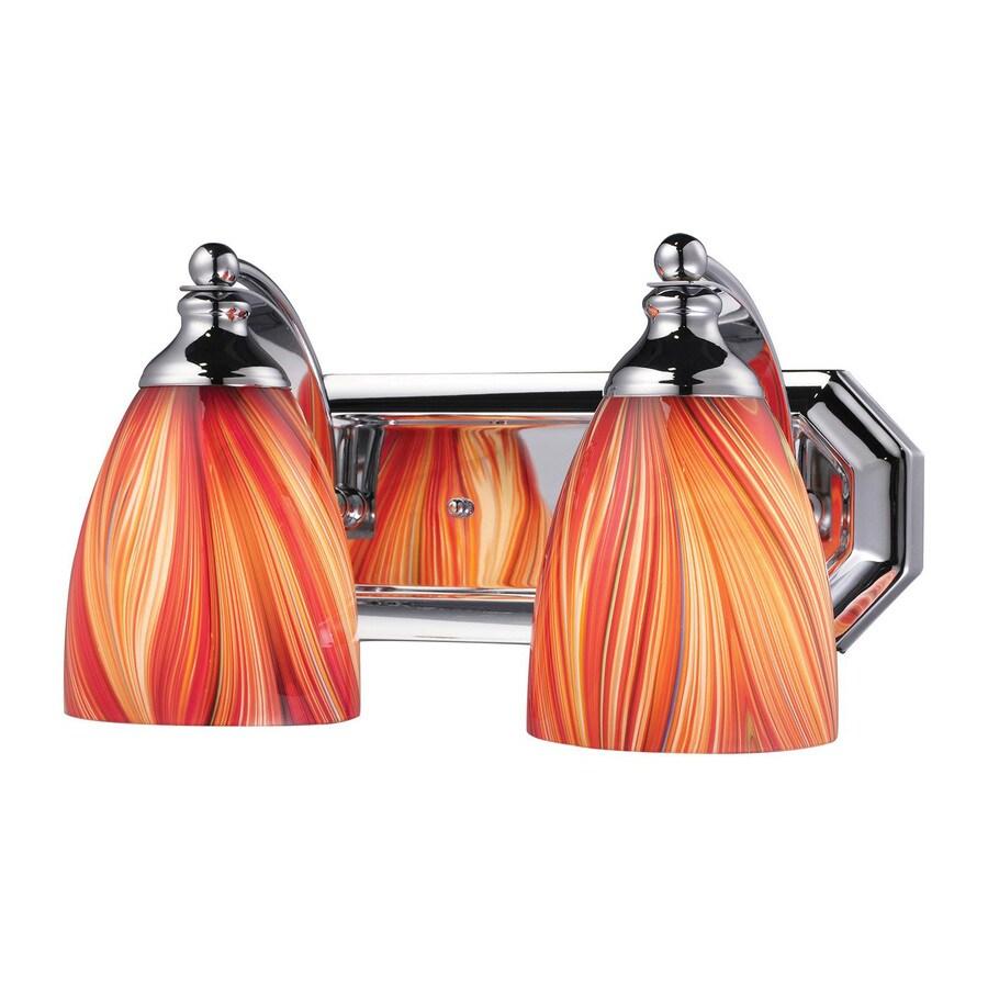 Westmore Lighting Homestead 2-Light 7-in Polished Chrome Bell LED Vanity Light