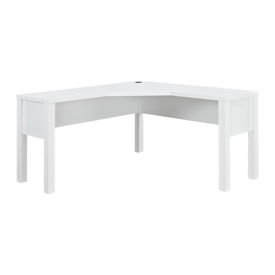 Ameriwood Home Princeton Transitional White L-shaped Desk