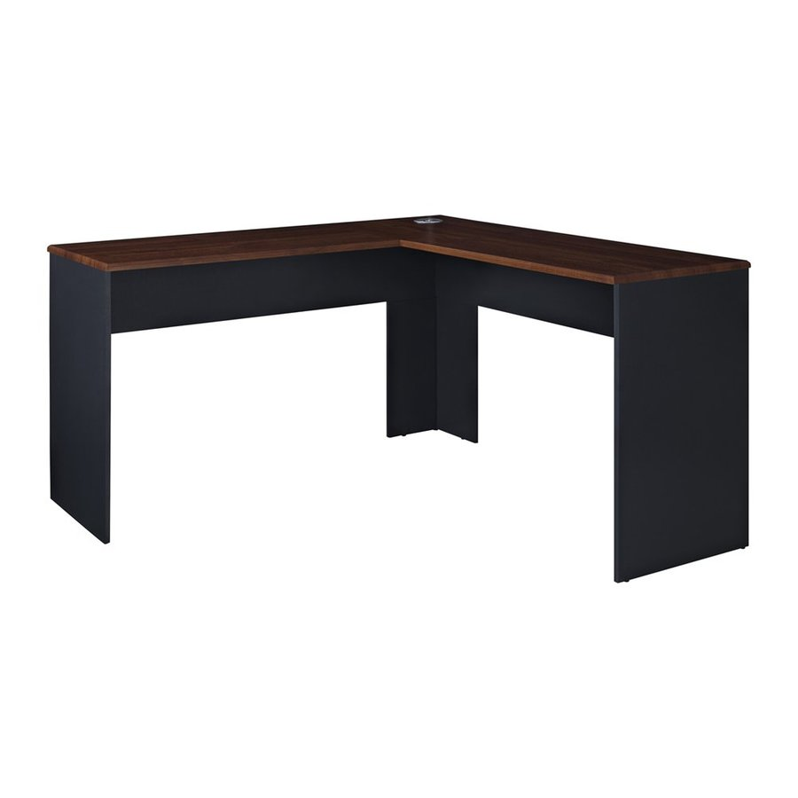 Ameriwood Home The Works Transitional Cherry L Shaped Desk