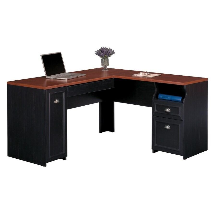 Bush Furniture Fairview Transitional Hansen Cherry L-shaped Desk