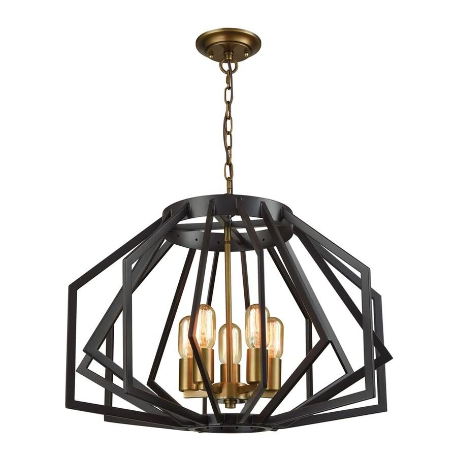 Dimond Home Fluxx 24-in 5-Light Bronze Novelty Cage Chandelier