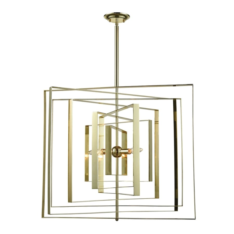 Dimond Home Synchrony 30-in 3-Light Gold plate Novelty Abstract Chandelier