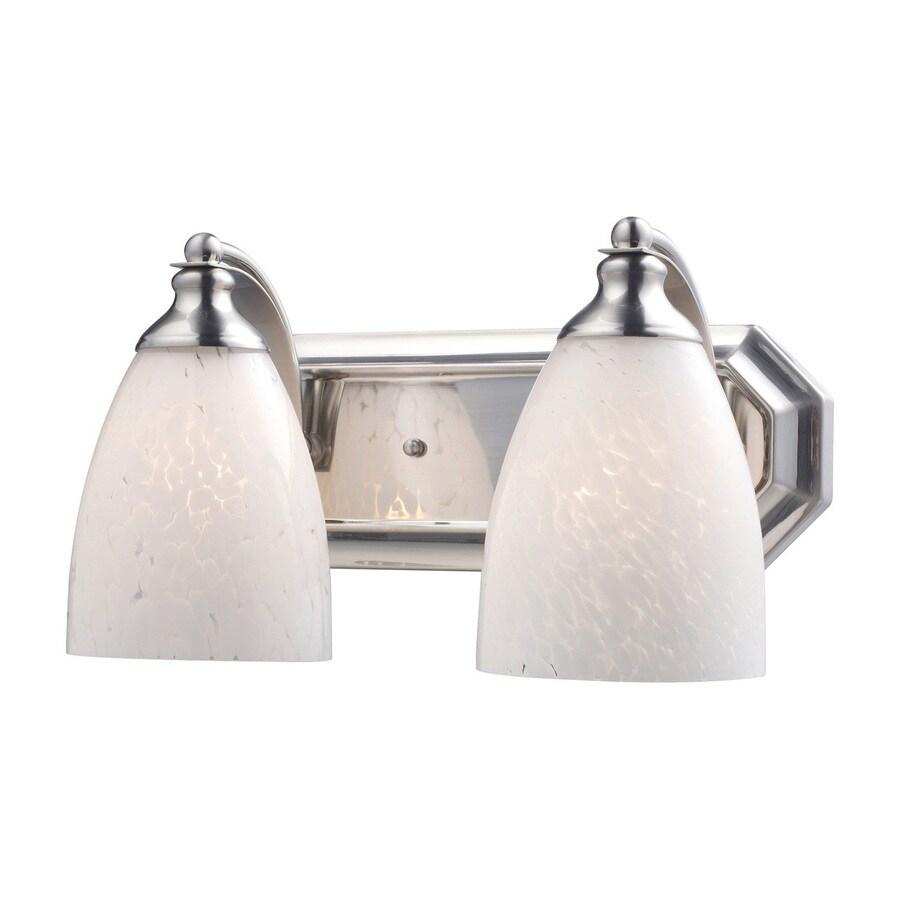 Westmore Lighting Homestead 2-Light 7-in Satin Nickel Bell LED Vanity Light