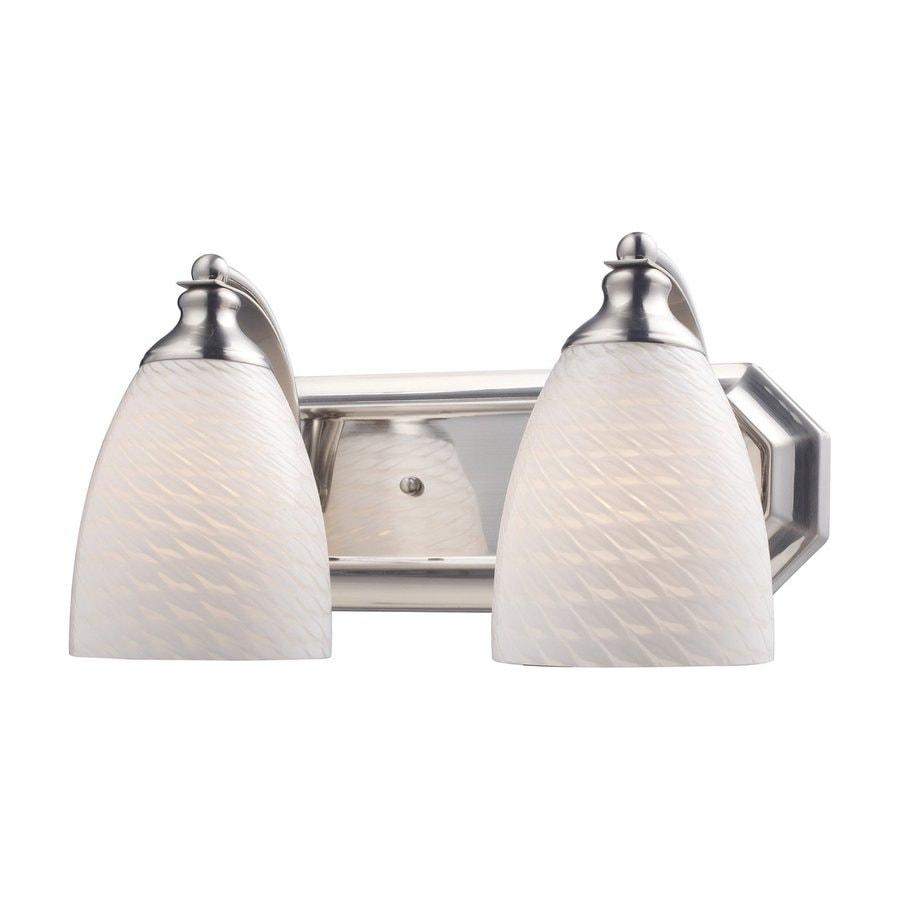 Westmore Lighting Homestead 2-Light 7-in Satin Nickel Bell Vanity Light