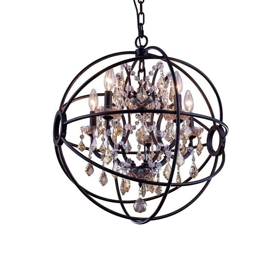 Elegant Lighting Urban 20-in 5-Light Dark bronze Novelty Cage Chandelier