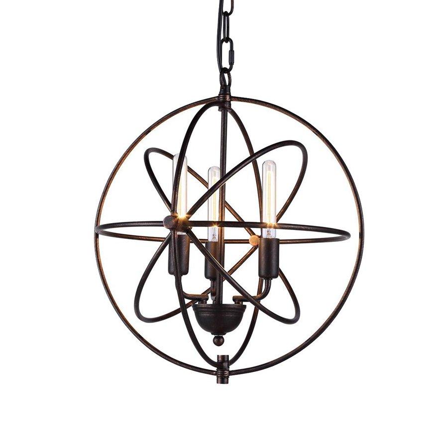 Elegant Lighting Vienna 17-in 3-Light Dark bronze Novelty Globe Chandelier
