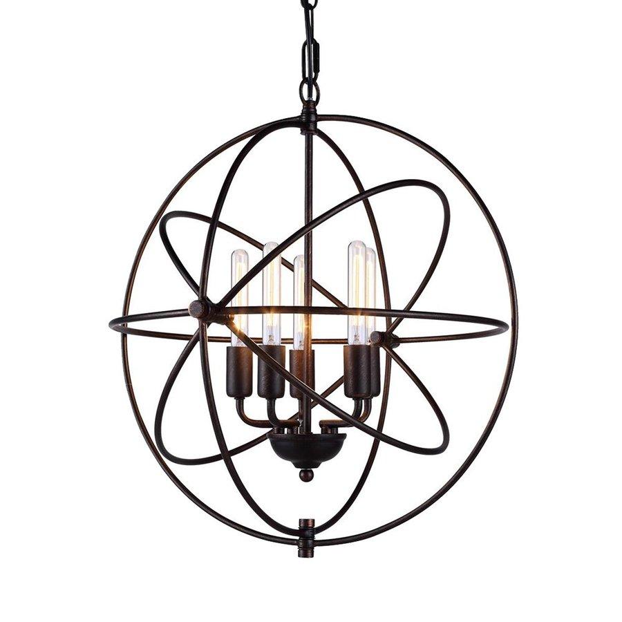 Elegant Lighting Vienna 20-in 5-Light Dark bronze Novelty Globe Chandelier