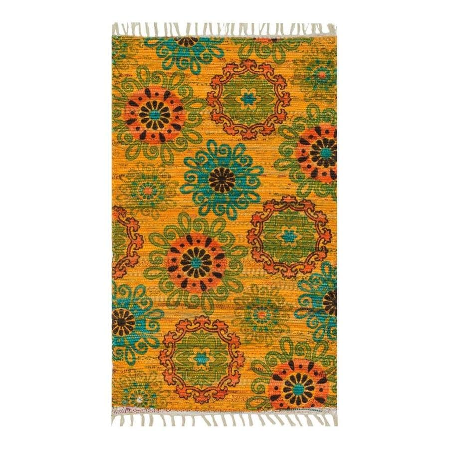 Loloi Aria Yellow/Orange Rectangular Indoor Handcrafted Nature Throw Rug (Common: 2 x 3; Actual: 1.667-ft W x 3-ft L)
