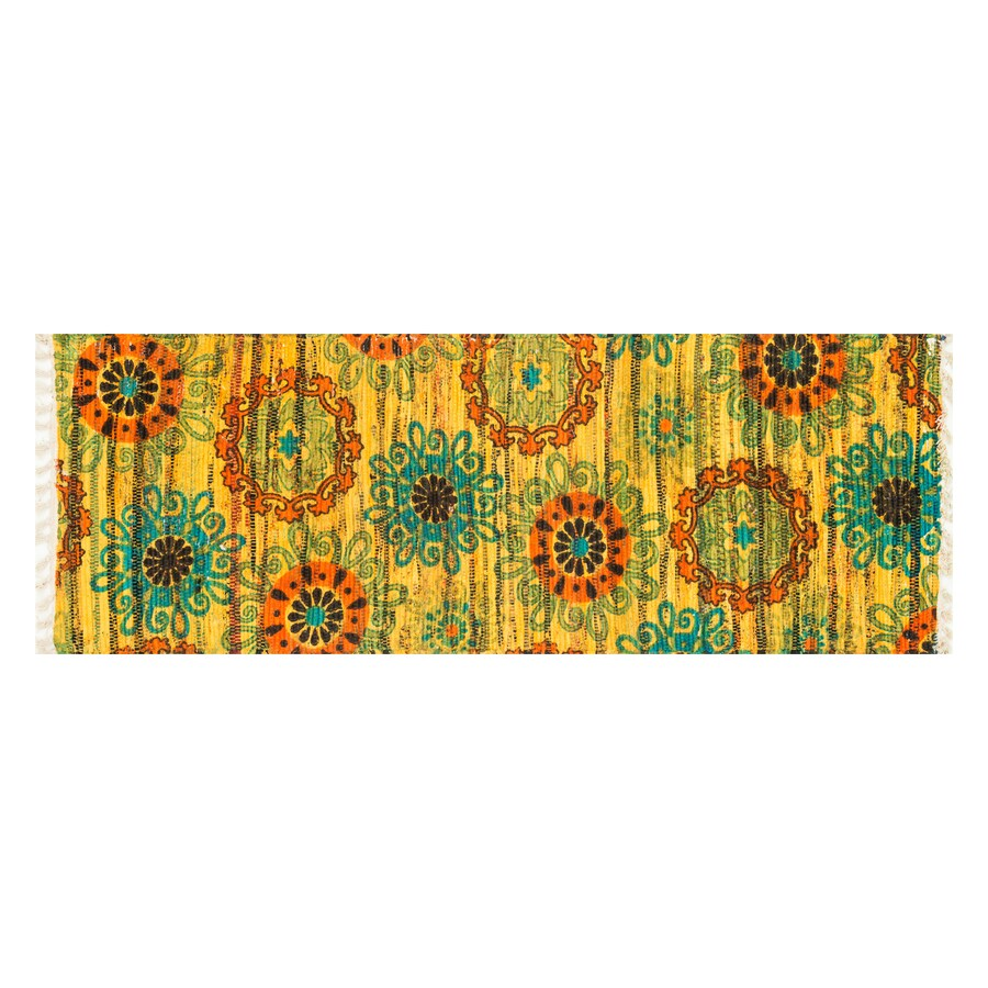 Loloi Aria Yellow/Orange Rectangular Indoor Handcrafted Nature Runner (Common: 2 x 5; Actual: 1.75-ft W x 5-ft L)
