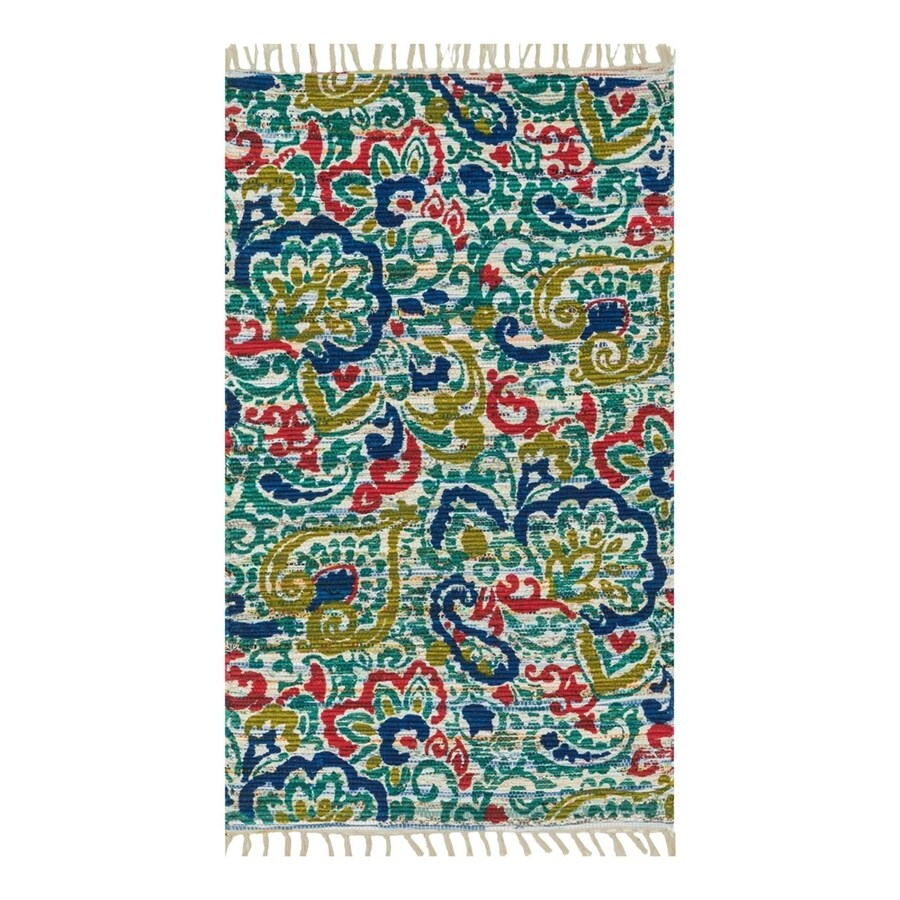 Loloi Aria Blue Rectangular Indoor Handcrafted Nature Throw Rug (Common: 2 x 3; Actual: 1.667-ft W x 3-ft L)