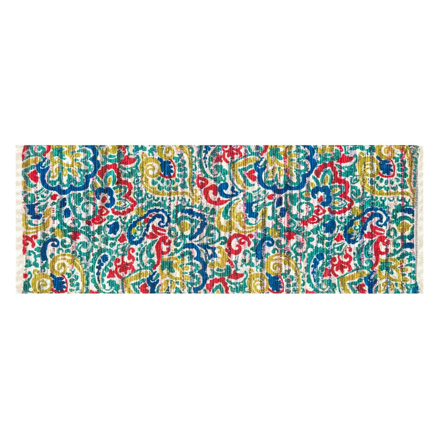 Loloi Aria Blue Rectangular Indoor Handcrafted Nature Runner (Common: 2 x 5; Actual: 1.75-ft W x 5-ft L)