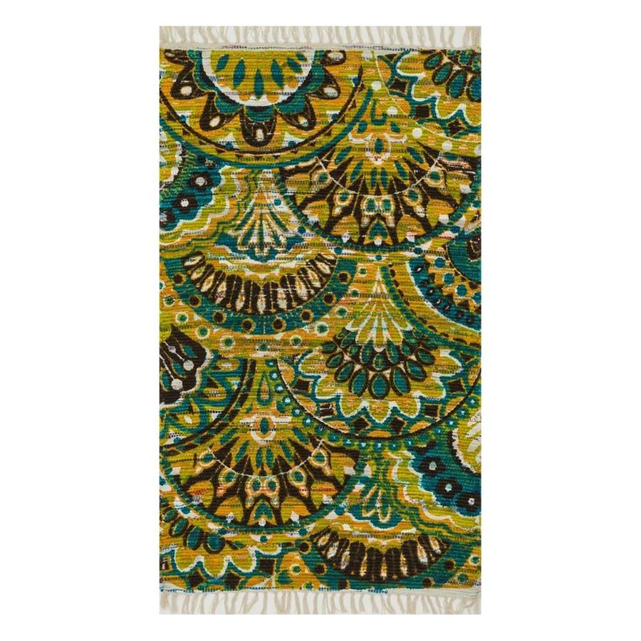 Loloi Aria Peacock/Yellow Rectangular Indoor Handcrafted Area Rug (Common: 2 x 4; Actual: 2.25-ft W x 3.75-ft L)