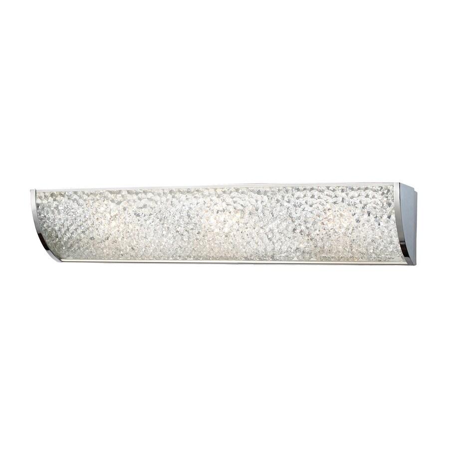 Westmore Lighting Rocora 1-Light 5-in Polished Chrome Rectangle Vanity Light Bar