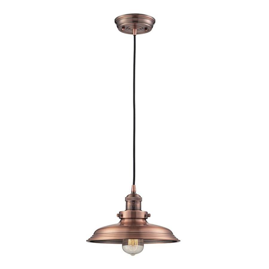 Westmore Lighting Longstock 11-in Antique Copper Barn Hardwired Single Warehouse Pendant