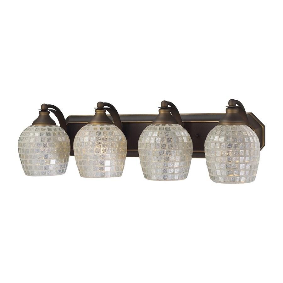 Westmore Lighting Homestead 4-Light 7-in Aged Bronze Bell Vanity Light