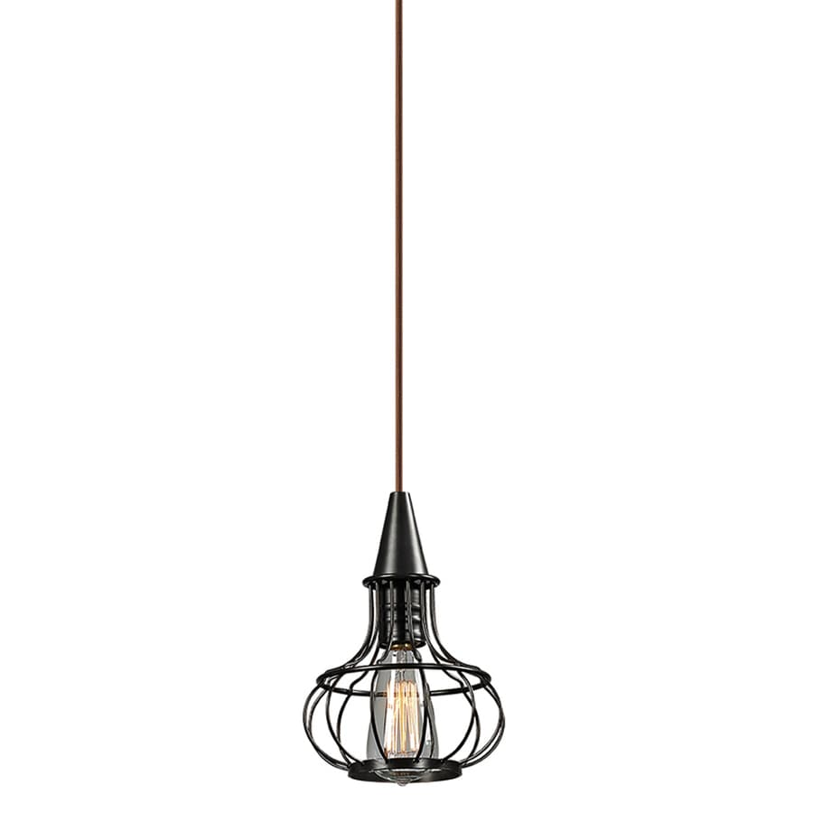 Westmore Lighting Bournemouth 7-in Oil Rubbed Bronze Rustic Hardwired Mini Lantern Pendant